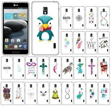 For LG Optimus F6 D500 MS500 Case Accessory HARD Cover Protector Feather Owl
