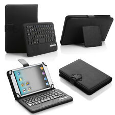 "Black PU Leather Wireless Bluetooth Keyboard Case For 7"" 7.7'' 7.9"" 8"" Tablet PC"