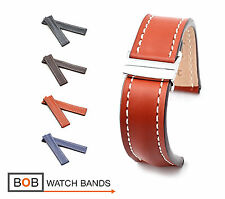 BOB Marino Saddle Calf Deployment Band for Breitling, 20 & 22 mm, 4 colors, new!