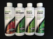 Seachem Flourish Nitrogen Iron Trace Excel Planted Aquairum Fertilizer Package