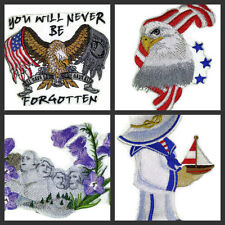 Patriotic Collection No.-ll  Embroidered Iron On Patches