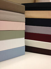 Solid 300 King Size Bed Sheet Set  Woven from pure 100% Cotton