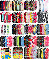 Wholesale Lot Novelty Socks Girl Size 2-3 Low Cut Mixed Assorted Designs Colors