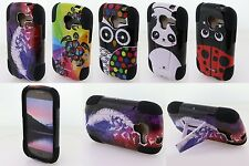 For Samsung Galaxy Exhibit T599 Rubber Hybrid Kickstand Tuff Cover Phone Case