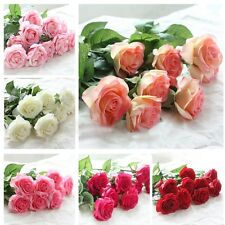 Bouquet Decor 20 Head Real Latex Touch Wedding And Home Design Rose Flowers