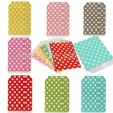 25pcs Retro Polka Dot Sweets Candy Popcorn Food Wedding Gift Party Paper Bags