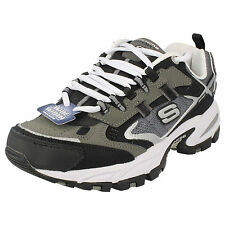 Mens Skechers Performance Charcoal Lace Up Trainers Wide Fit 50191 INSIGHT