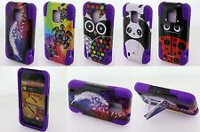 For ZTE Source N9511 Majesty Z796C Rubber Hybrid Kickstand Tuff Cover Phone Case