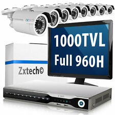8 x 1000TVL Sony CMOS Camera HDMI Recorder 200fps Free Software Security Package