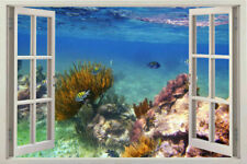 3D Window sea View Design Home Decal Decor Stickers for Wall Art Removable Vinyl