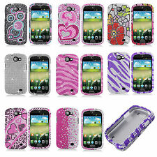 Samsung Galaxy Express i437 Crystal Diamond BLING Hard Case Cover + Screen Guard