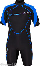 Bare 2mm Sport S-Flex Shorty Scuba Diving Wetsuit Men's Blue