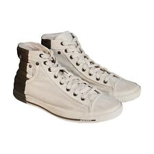 Diesel Mens Exposure I White Brown Textile High Top Sneakers Shoes