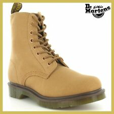 Dr. Martens 1460 Womens Page Tan Summer Canvas Doc Ankle Boots