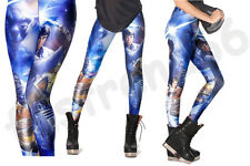 Womens Star Wars Montage Leggings Digital Print Stretch Pants Black Milk Trouser