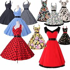 Rockabilly Vintage Style Swing 1950s 1960s Housewife Classic Pinup EVENING Dress