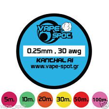 KANTHAL A1 0.25 mm 30 Gauge SPOOL Varius Lengths - Resistance Wire