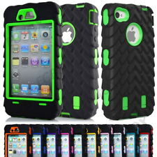 High Impact Hybrid Tyre Stripe Combo Soft Silicone Hard PC Case Cover For iPhone