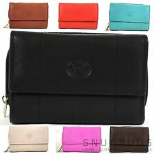 Matt Finish Nappa Leather Purse with 17 Credit Card Slots and Multiple Pockets
