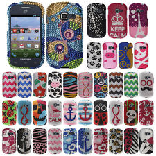 For Samsung Galaxy Discover S730G Centura S738C Penguin Bling Hard Case Cover