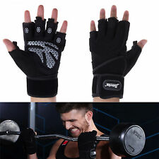 New Weight Lifting Exercise Fitness Hand Support Gloves Gym Training Black ESDay