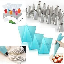 Icing Nozzles& 100P Disposable Piping Bag Fondant Cake Decorating Pastry Tool #T