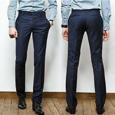 Luxury Men's Slim Fit Casual Formal Straight Dress Mens Pants Smooth Trousers