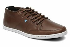Boxfresh Mens Sparko 4 Bitter Chocolate  Leather Trainers