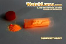 ORANGE GLOW IN THE DARK PAINT WATCH LUME ™ LUMINOUS PASTE KIT LUME - WATCH HANDS