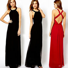 Sexy Women's Backless Sleeveless Formal Cocktail Party Evening Summer Long Dress