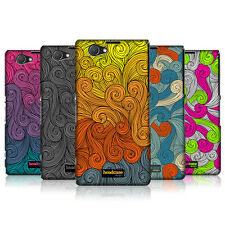 HEAD CASE DESIGNS VIVID SWIRLS CASE COVER FOR SONY XPERIA Z1 COMPACT D5503