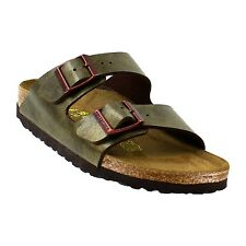 BIRKENSTOCK ARIZONA SOFT SANDAL NARROW SLIDE BROWN LADIES 6 7 8 9 10  NEW