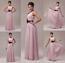 Womens Dress Long Bridesmaid Gown Formal Pleated Evening Prom Dress Hommecoming