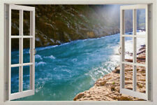 SEA 3D Window View Wall Decal Home Decor Removable Wall Sticker Art Mural