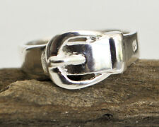 925 Sterling Silver Belt Buckle Ring - Size 6, 7, 8 or 9 - No Stone