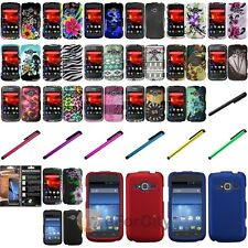 Hard Case Snap-On Plastic Cover Skin For ZTE Concord II Z730+Stylus+Film