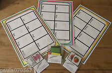 My first learning boards, colours~fruit / vegetables~first animals~ velcro pecs