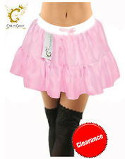 ADULTS LADIES GIRLS GREASE PINK LADY SATIN JACKET SKIRT WOMENS 1970S FANCY DRESS