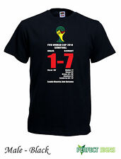 Germany Brazil 7-1 Semi Final FIFA World Cup 2014 T-Shirt S - XXXL - Black
