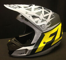Fox Racing 2014 V2 Given Helmet (Grey / Yellow)