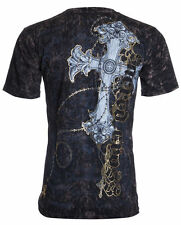 UNTAMED Mens T-Shirt SACRED CROSS Tattoo Biker MMA UFC ROAR XZAVIER M-3XL $35 a