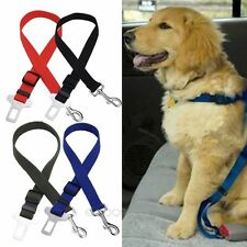 Dog Pet Car Safety Seat Belt Harness Restraint Lead Adjustable Travel Clip New