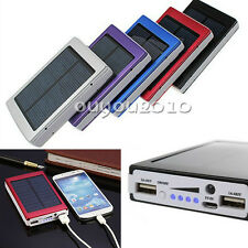 Universal 30000mAh Solar Battery Charger Dual USB Power Bank for Iphone Samsung