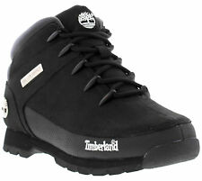Timberland Euro Sprint Mens Classic Leather Lace-up Black Boots Size UK 7 - 11