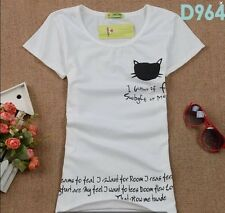 New Fashion Women's Korean Summer Short Sleeve Loose Casual T-shirt Tops C916-12