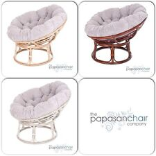 NEW Stone Jumbo Cord Papasan Chair - Rattan Conservatory Bowl Garden Furniture