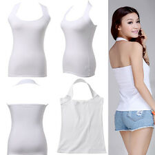 Women Lady Halter Neck Low Cut Top Vest Boob Tube Backless Shirt Causual Clothes