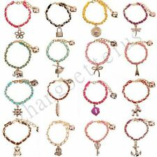 New Women's Mixed Style Leather Alloy Golden Heart Lucky Charms Bracelet Bangle