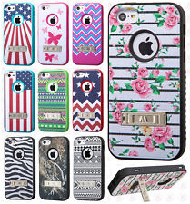 For Apple iPhone 5C IMPACT Verge HYBRID Kickstand Case Skin Phone Cover