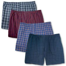 Big Men's Plaid Boxers Players Underwear 4-Pack 3XL - 8XL Assorted Colors #1133